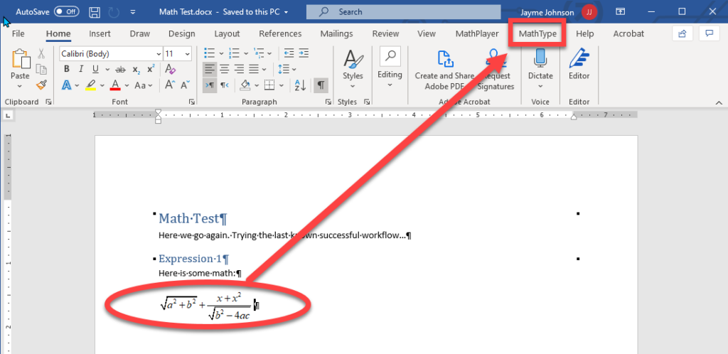MS Word with MathType add-in.