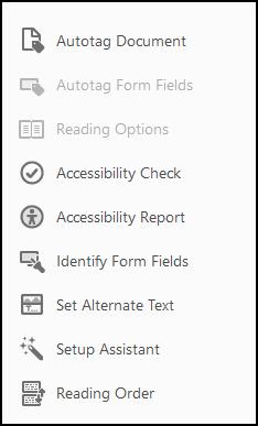 Acrobat Pro Accessibility tools