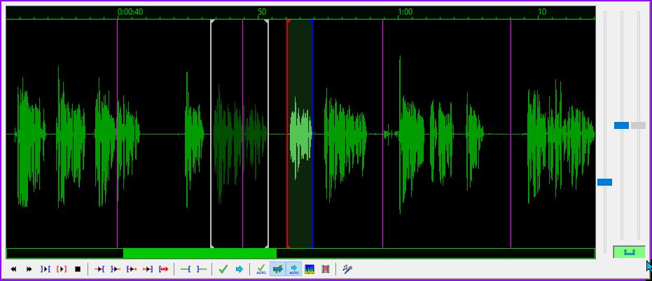 Aegisub audio display.