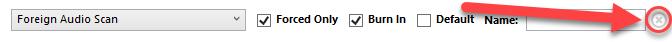 Delete option for subtitle track.