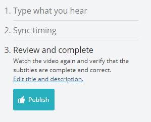 The final step of the workflow: review your captions and timing.