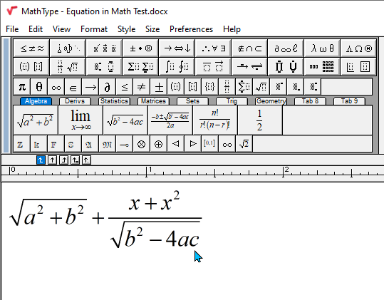 MathType Equation Editor.