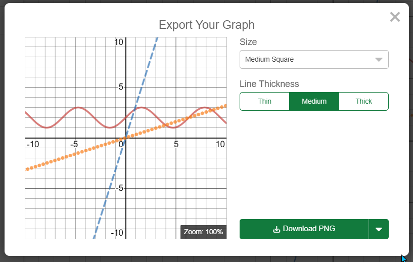 Exporting a graph as an image.