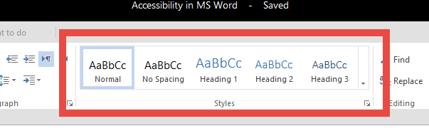 Styles pane from MS Word