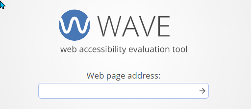 The WAVE accessibility evaluation tool.
